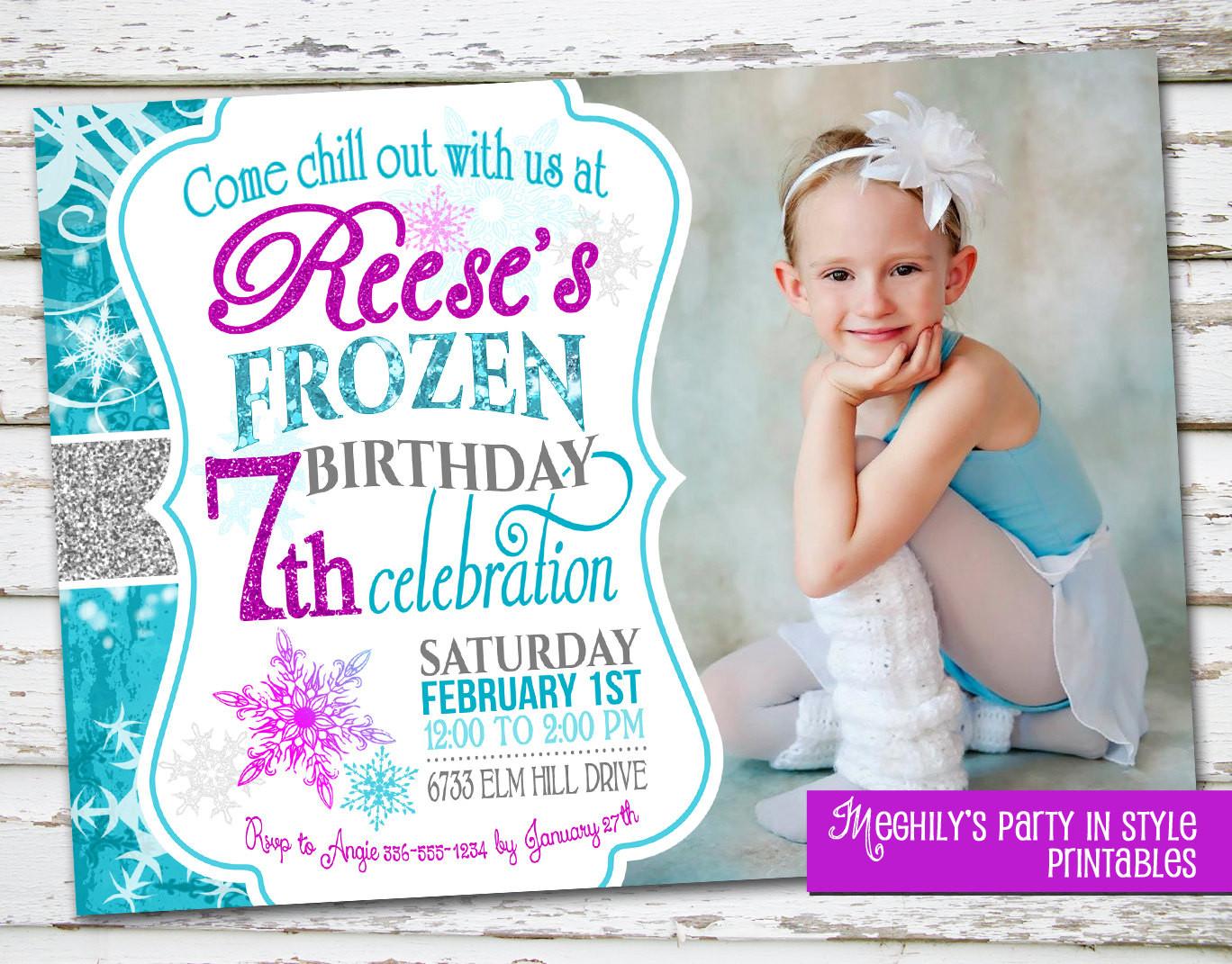 Best ideas about Frozen Birthday Party Invitations . Save or Pin Frozen Birthday Invitation with Now.