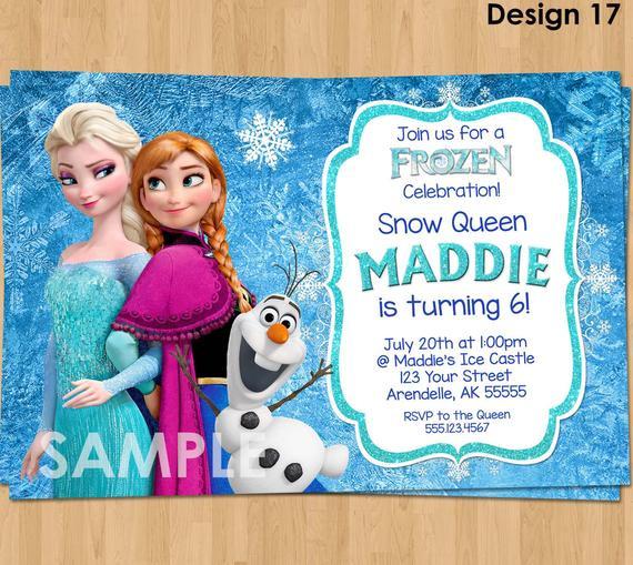 Best ideas about Frozen Birthday Party Invitations . Save or Pin Frozen Invitation Frozen Birthday Invitation Disney Frozen Now.