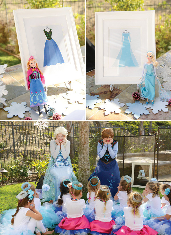 Best ideas about Frozen Character For Birthday Party . Save or Pin Sparkly Snowy & Fantastic  Frozen Birthday Party Now.