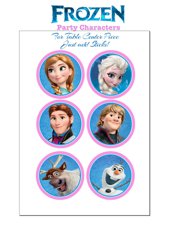 Best ideas about Frozen Character For Birthday Party . Save or Pin Items similar to FROZEN party birthday characters instant Now.