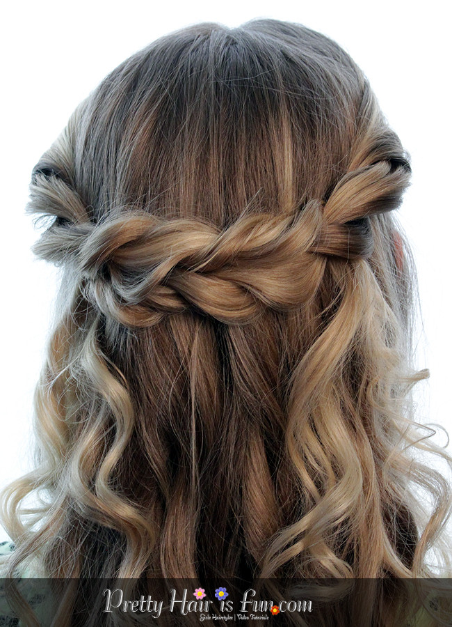 Best ideas about Fun And Easy Hairstyles . Save or Pin Pretty Hair is Fun Easy Twisted Tieback – Pretty Hair is Now.