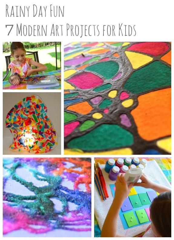 Best ideas about Fun Art Projects . Save or Pin Rainy Day Fun 7 Modern Art Projects for Kids Inner Now.