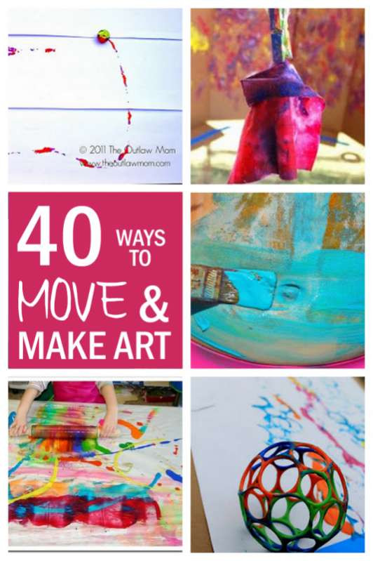 Best ideas about Fun Art Projects . Save or Pin 40 Big Art Fun Art Projects for Kids hands on as we grow Now.
