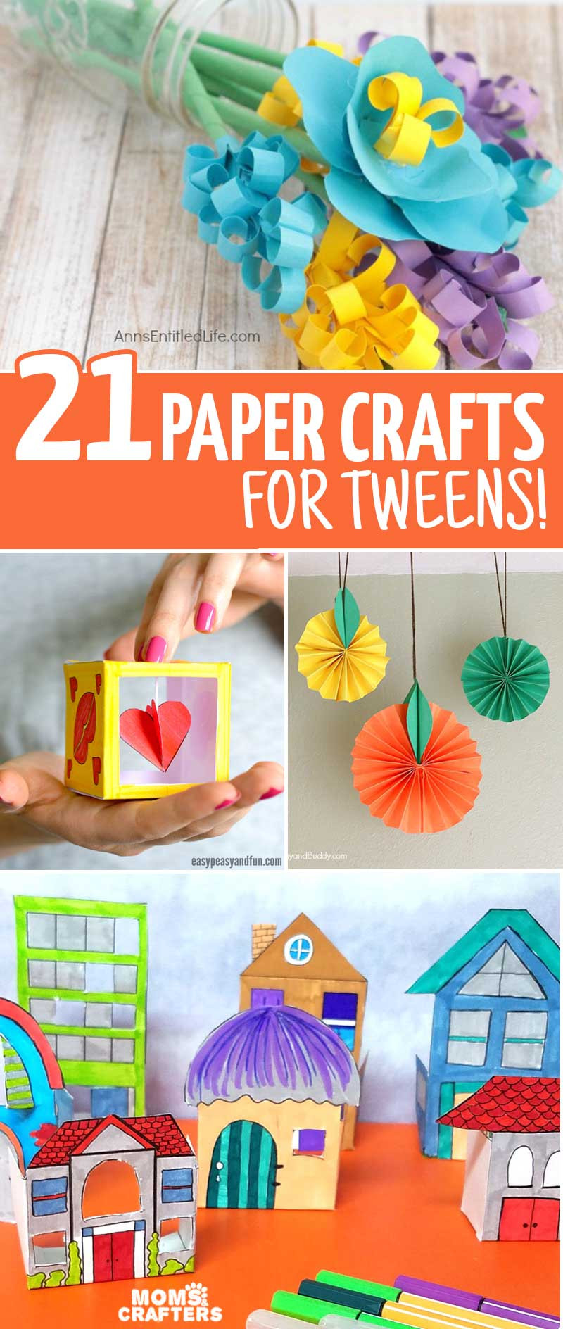 Best ideas about Fun Art Projects . Save or Pin Fun Crafts for Tweens with Paper – Moms and Crafters Now.
