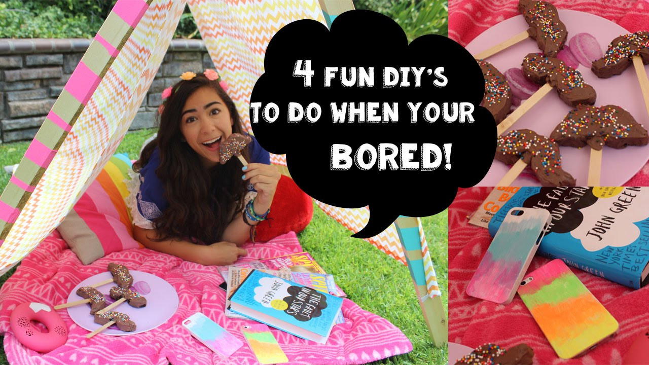 Best ideas about Fun Crafts To Do When Bored . Save or Pin 4 Fun DIY s To Do When You re Bored Now.