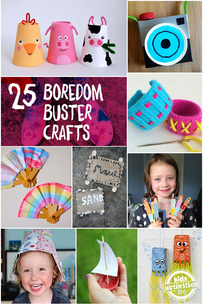 """Best ideas about Fun Crafts To Do When Bored . Save or Pin """"Mom I m Bored"""" 25 Summer Boredom Buster Crafts Now."""