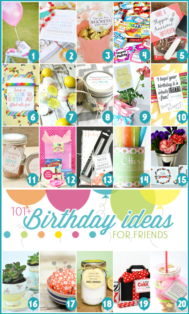 Best ideas about Fun Gift Ideas For Friend . Save or Pin 101 Creative & Inexpensive Birthday Gift Ideas Now.
