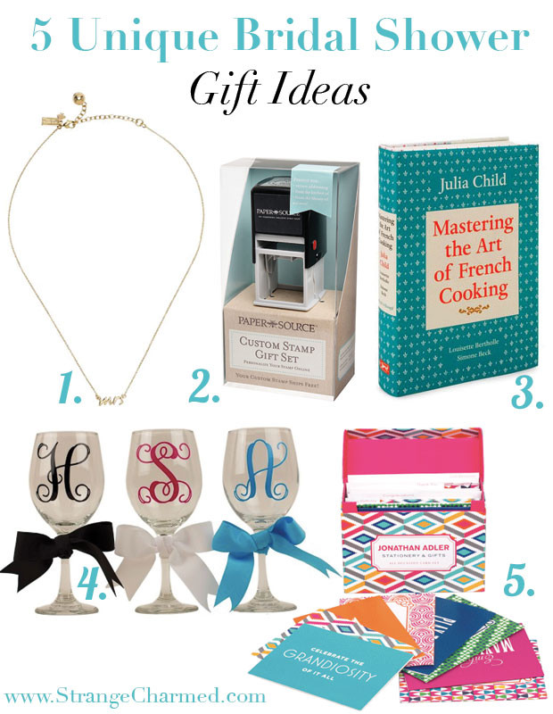 Best ideas about Fun Wedding Gift Ideas . Save or Pin 5 Unique Bridal Shower Gift Ideas Strange Now.