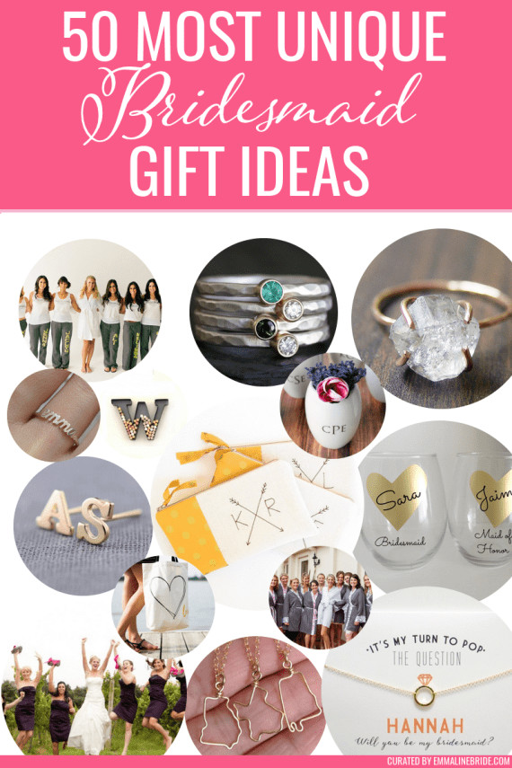 Best ideas about Fun Wedding Gift Ideas . Save or Pin 50 Most Unique Bridesmaid Gift Ideas Now.