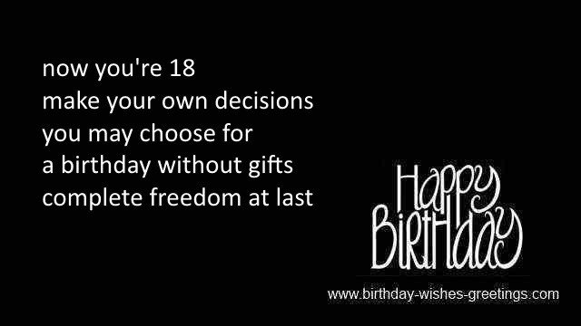 Funny Happy 18th Birthday Poems Funny Png