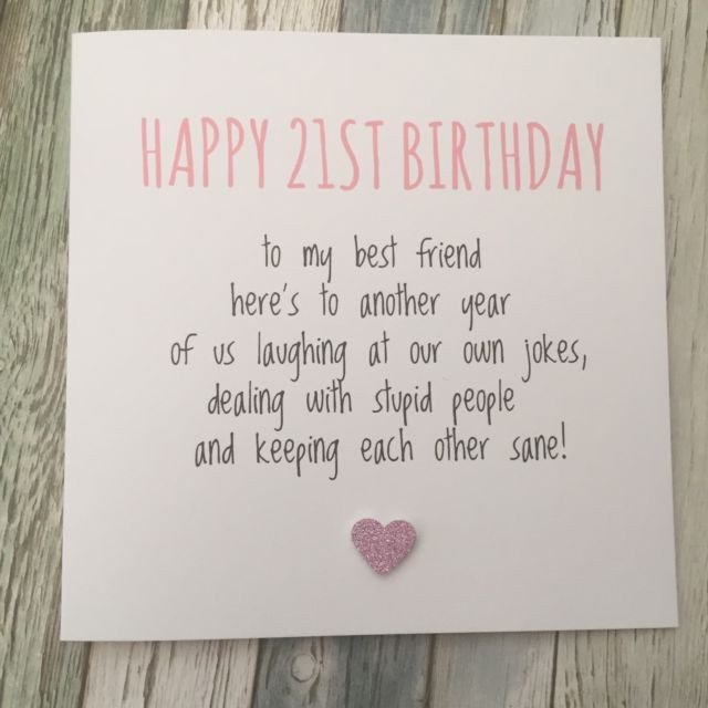 Best ideas about Funny 21st Birthday Cards . Save or Pin Funny Best Friend 21st Birthday Card Bestie Humour Rude Now.