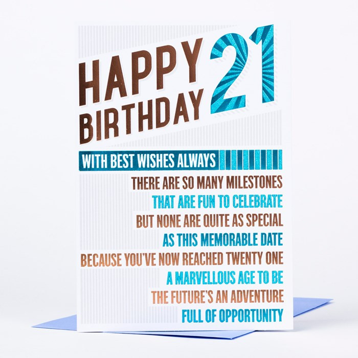 Best ideas about Funny 21st Birthday Cards . Save or Pin 21st Birthday Card Happy birthday 21 only 89p Now.