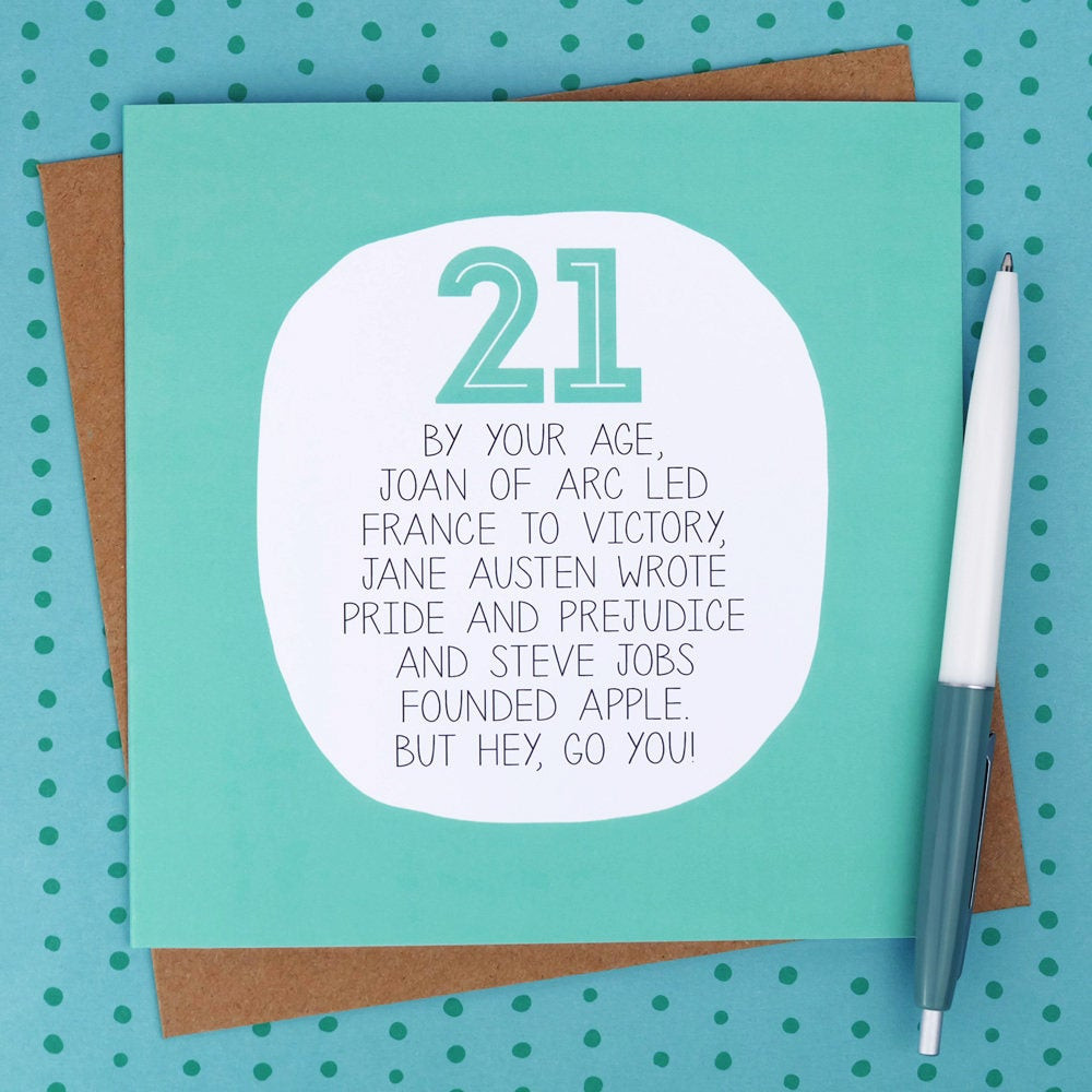 Best ideas about Funny 21st Birthday Cards . Save or Pin 21st Birthday Card Funny birthday cards funny 21st card Now.