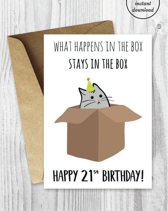 Best ideas about Funny 21st Birthday Cards . Save or Pin 21st Birthday Printable Cards Funny 21st Birthday Cards Now.