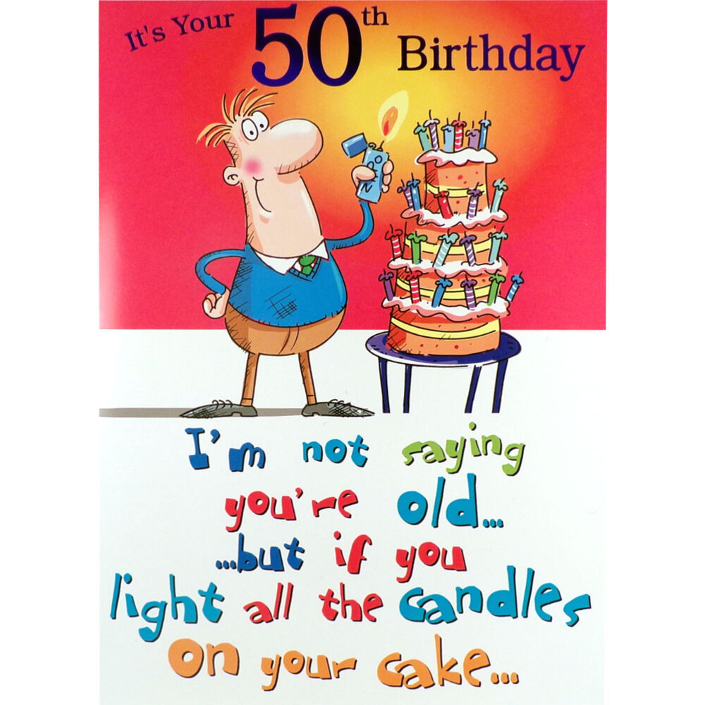 Best ideas about Funny 50th Birthday Cards . Save or Pin 50th BIRTHDAY Card FUNNY Rude HUMOROUS Male Happy Now.