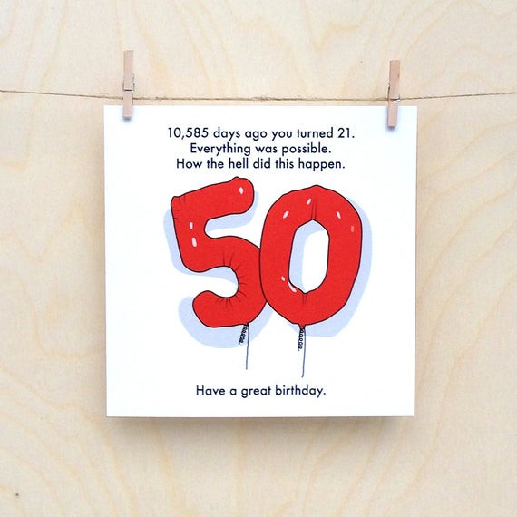 Best ideas about Funny 50th Birthday Cards . Save or Pin 50th Birthday Card Funny 50th card Funny age card Funny Now.