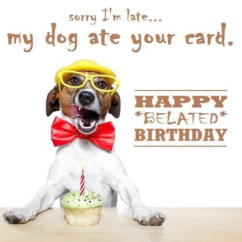 Best ideas about Funny Belated Birthday . Save or Pin Funny Belated Birthday Wishes Now.