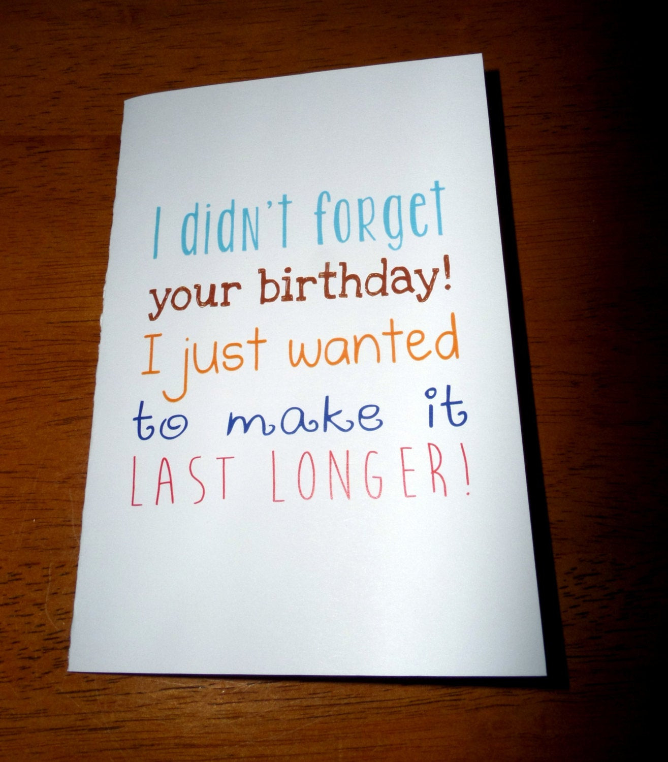 Best ideas about Funny Belated Birthday . Save or Pin Funny Belated Birthday Card I Didn t For Your Now.
