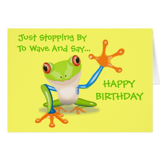 Best ideas about Funny Birthday Cards For Kids . Save or Pin Cute Frog Funny Animal Kids Happy Birthday Card Now.