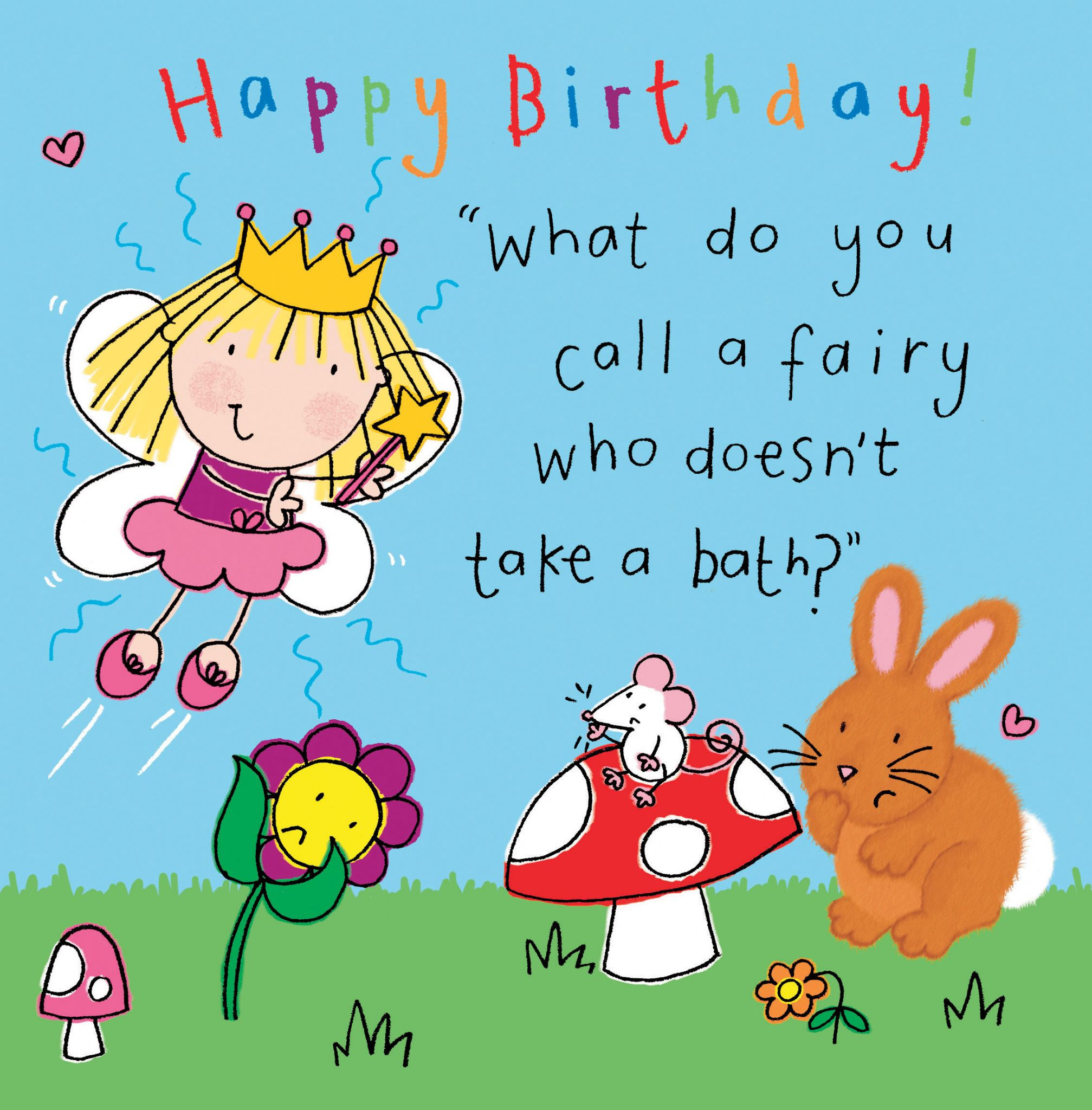 Best ideas about Funny Birthday Cards For Kids . Save or Pin Fairy Funny Joke Birthday Card For Kids TW435 Now.