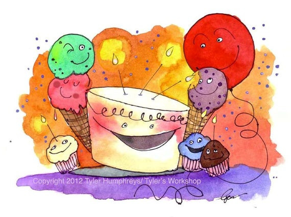 Best ideas about Funny Birthday Cards For Kids . Save or Pin Children Birthday Card Funny Birthday Card Watercolor Now.