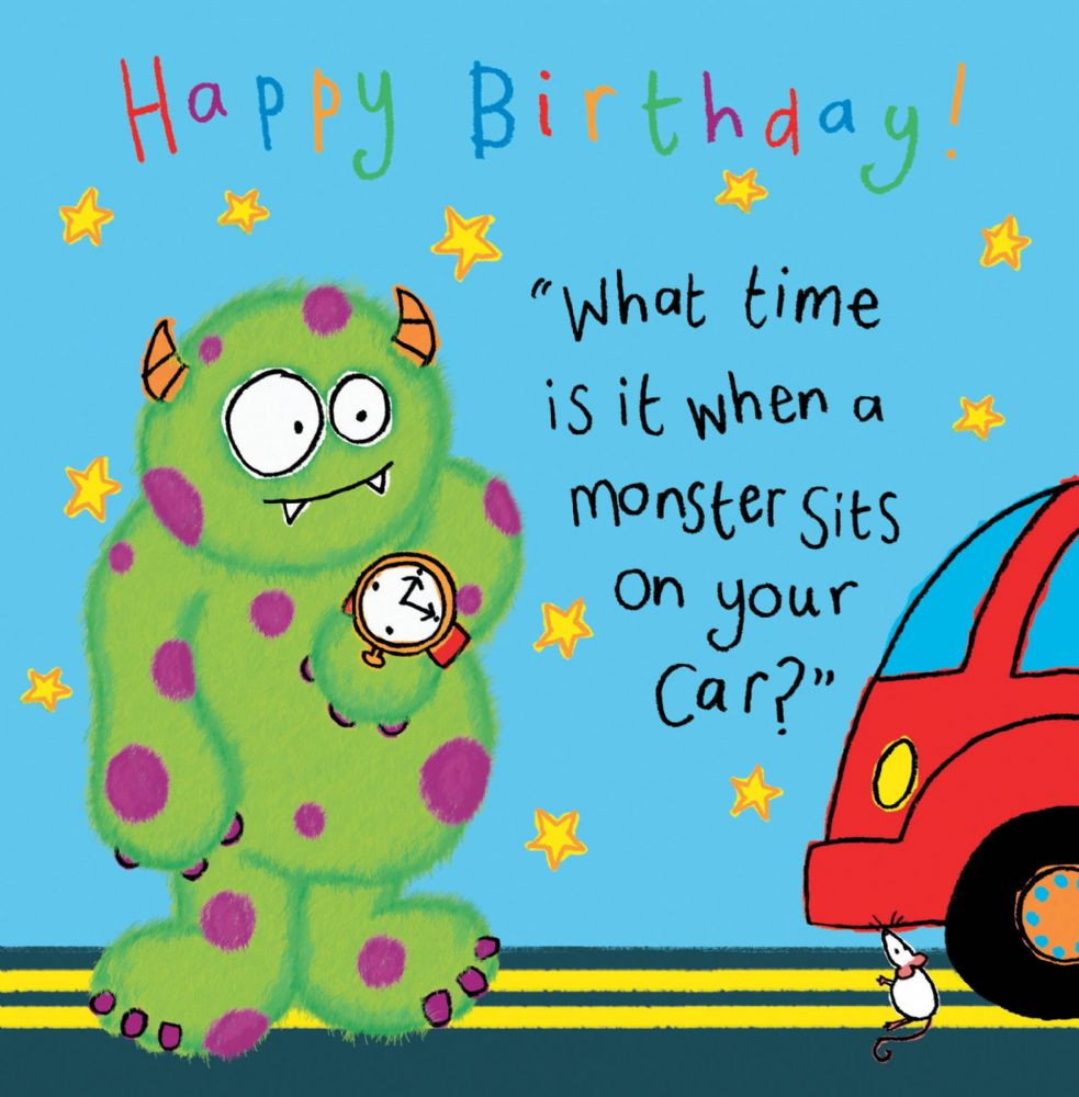 Best ideas about Funny Birthday Cards For Kids . Save or Pin Monster Funny Joke Birthday Card For Kids TW430 Now.