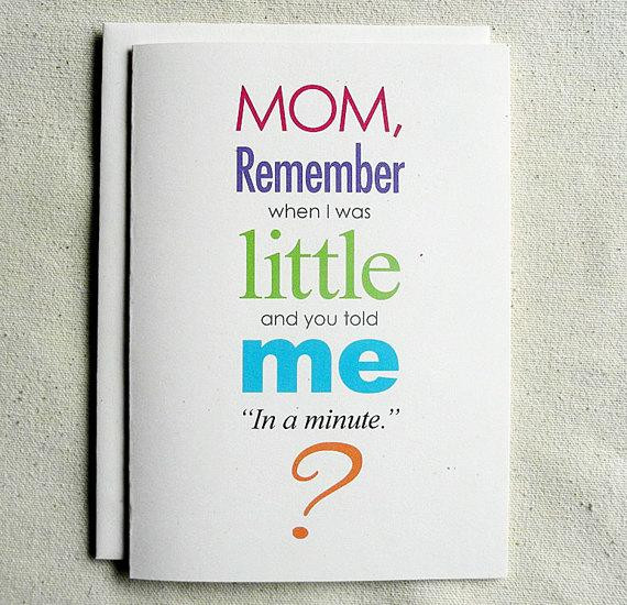 Best ideas about Funny Birthday Cards For Mom . Save or Pin Mother Birthday Card Funny Mom Remember when I was Little Now.