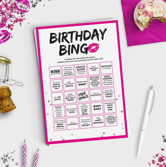 Best ideas about Funny Birthday Games For Adults . Save or Pin Fun Adult Birthday Game Birthday Bingo Scavenger Hunt Now.
