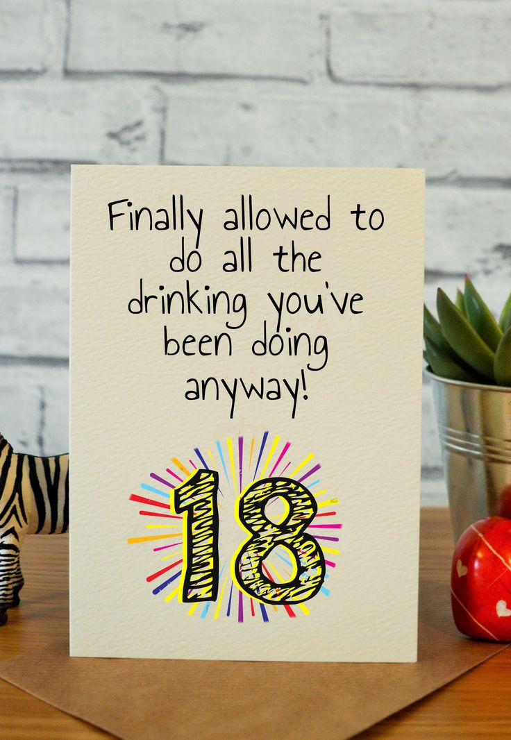 Best ideas about Funny Birthday Gifts . Save or Pin The 25 best 18th birthday cards ideas on Pinterest Now.