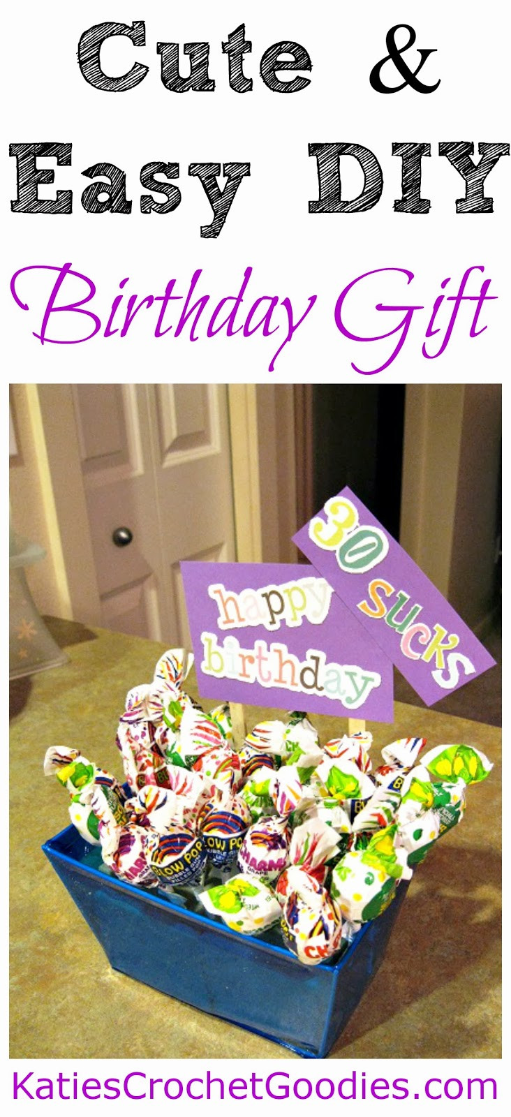 Best ideas about Funny Birthday Gifts . Save or Pin Funny Sucker Birthday Gift Idea Katie s Crochet Goo s Now.