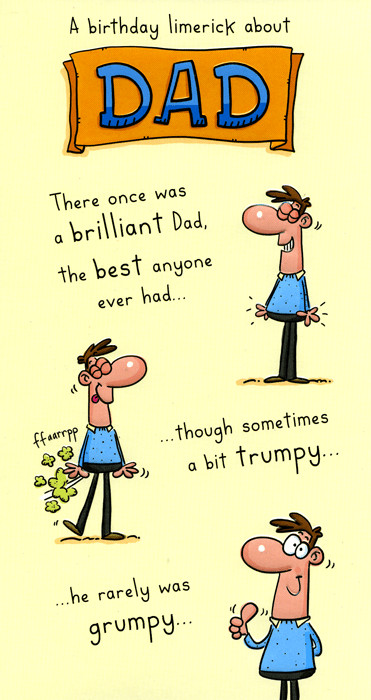 Best ideas about Funny Birthday Limericks . Save or Pin Funny Card Birthday limerick about Dad Now.