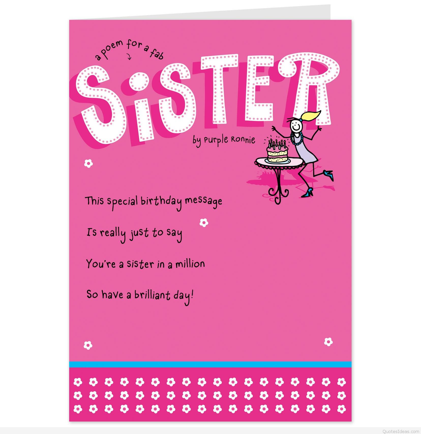 Best ideas about Funny Birthday Message For Sister . Save or Pin Latest funny cards quotes and sayings Now.