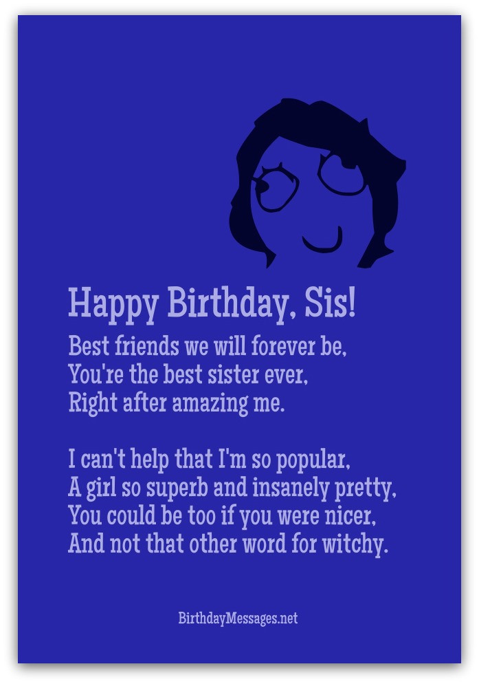 Best ideas about Funny Birthday Message For Sister . Save or Pin Funny Birthday Poems Page 3 Now.