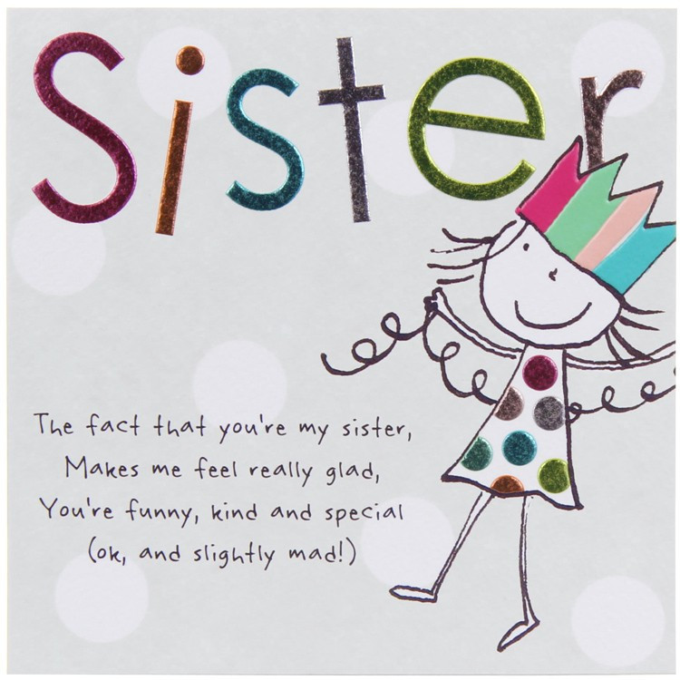 Best ideas about Funny Birthday Message For Sister . Save or Pin Paperlink Tinklers SISTER Birthday Card Now.