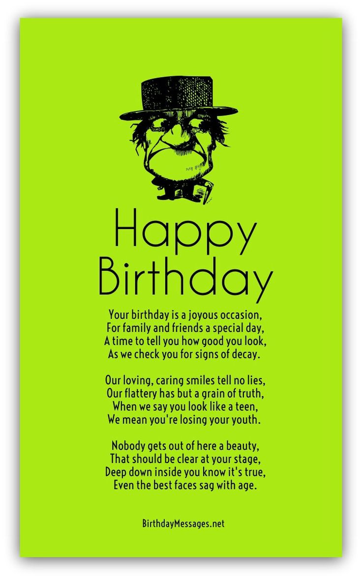 Best ideas about Funny Birthday Quotes For Him . Save or Pin Best 25 Funny birthday poems ideas on Pinterest Now.
