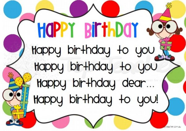 Best ideas about Funny Birthday Song Lyrics . Save or Pin happy birthday song lyrics qhiqekgp Hold Marketing Now.