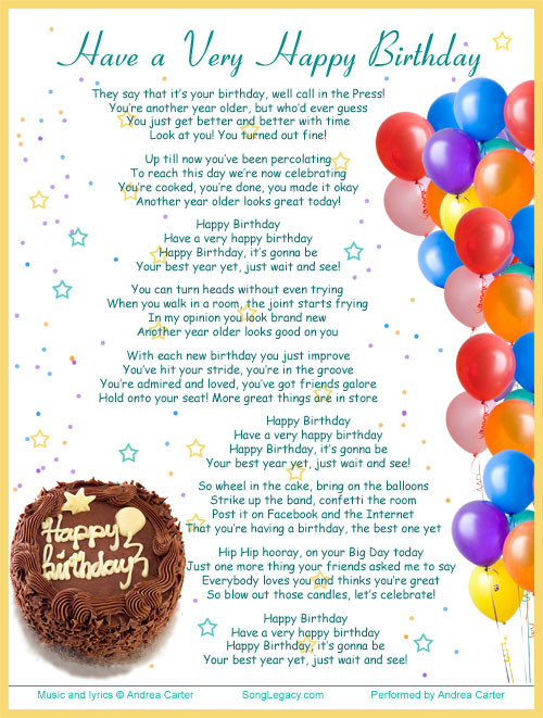 Best ideas about Funny Birthday Song Lyrics . Save or Pin Happy Song Quotes QuotesGram Now.