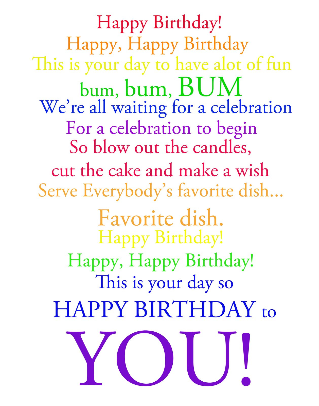 Best ideas about Funny Birthday Song Lyrics . Save or Pin The Project Corner Happy Birthday Happy Happy Birthday Now.