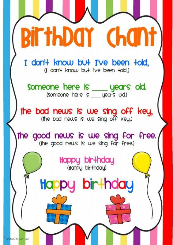 Best ideas about Funny Birthday Song Lyrics . Save or Pin Birthday Chant Much better than the same old birthday Now.