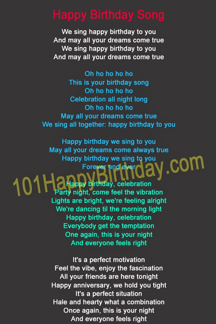 Best ideas about Funny Birthday Song Lyrics . Save or Pin 101 Happy Birthday — New Post has been published on Now.