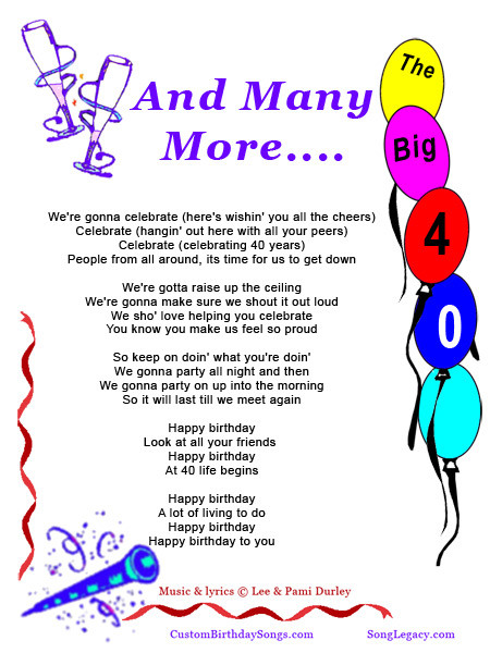 Best ideas about Funny Birthday Song Lyrics . Save or Pin 40th Birthday Jokes Quotes QuotesGram Now.