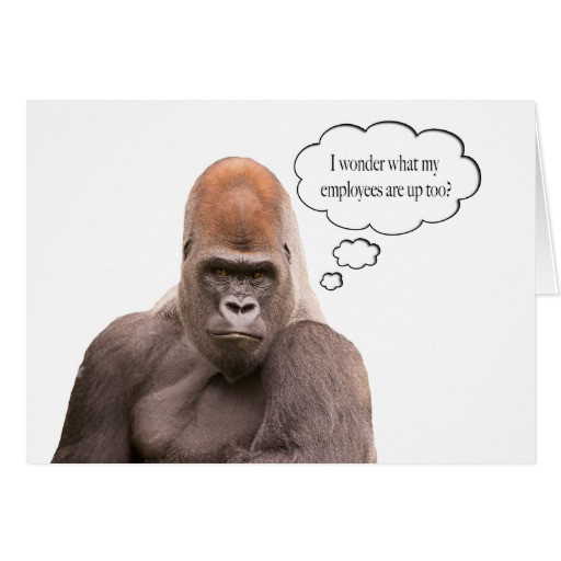 Best ideas about Funny Birthday Wishes For Boss . Save or Pin Funny Gorilla Happy Birthday Boss Card Now.