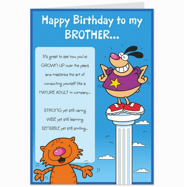 Best ideas about Funny Birthday Wishes For Brother . Save or Pin 200 Best Birthday Wishes For Brother 2019 My Happy Now.