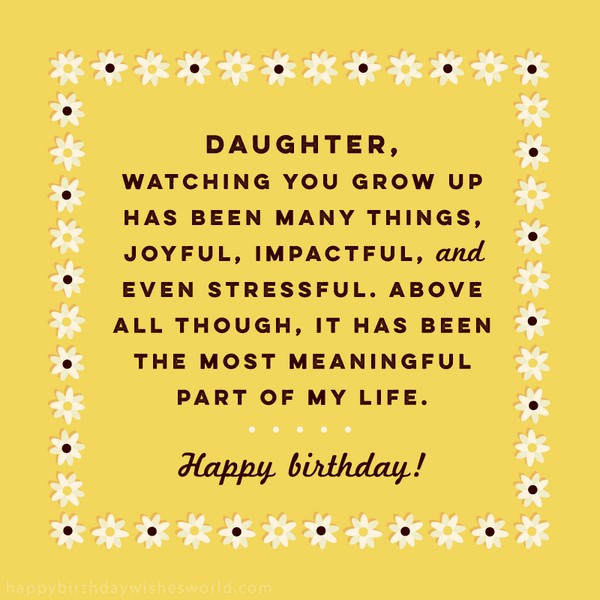 Best ideas about Funny Birthday Wishes For Daughter . Save or Pin Top 70 Happy Birthday Wishes For Daughter [2019] Now.