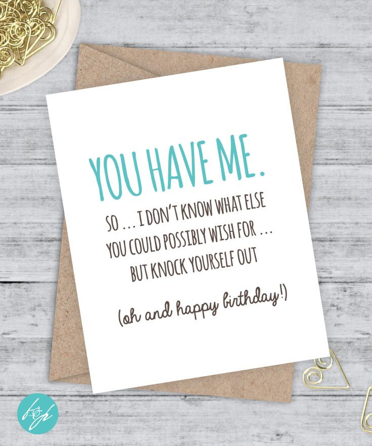 Best ideas about Funny Birthday Wishes For Girlfriend . Save or Pin Birthday Card Funny Boyfriend Card Funny Girlfriend Now.
