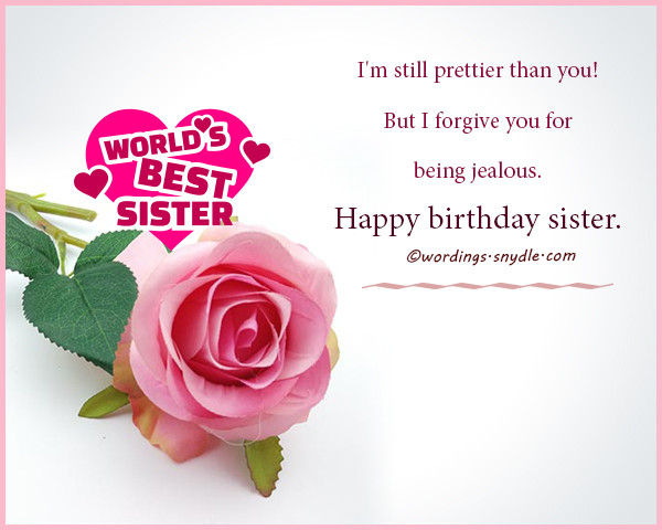 Best ideas about Funny Birthday Wishes For Sister . Save or Pin Best Birthday Wishes for Friend Sister Brother and Now.