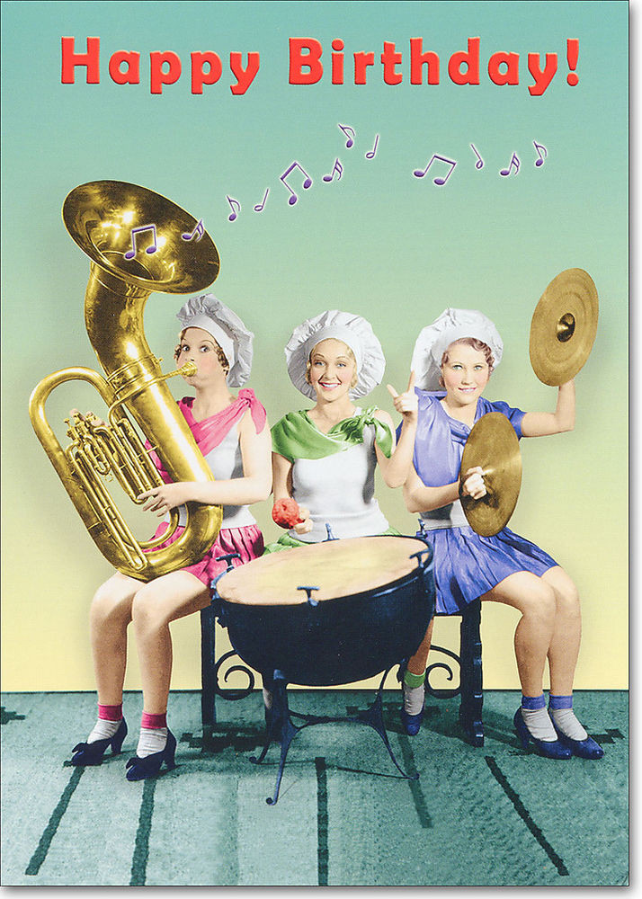 Best ideas about Funny Birthday Wishes For Women . Save or Pin Women Playing Instruments Funny Birthday Card Greeting Now.