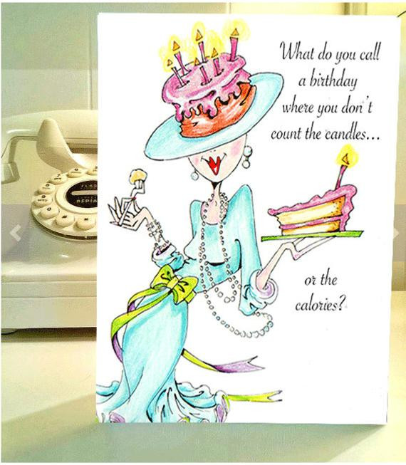 Best ideas about Funny Birthday Wishes For Women . Save or Pin Items similar to Funny Birthday card funny women humor Now.