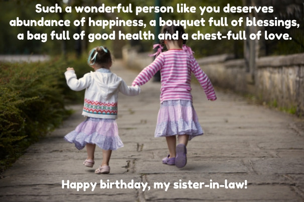 Best ideas about Funny Birthday Wishes For Younger Sister . Save or Pin Top 30 Birthday Quotes for Sister in Law with Now.