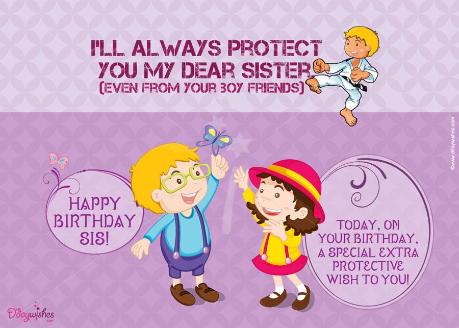 Best ideas about Funny Birthday Wishes For Younger Sister . Save or Pin Funny birthday wishes for younger brother from sister Now.